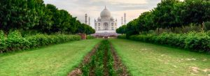 Walking Into the Mehtab Bagh Agra